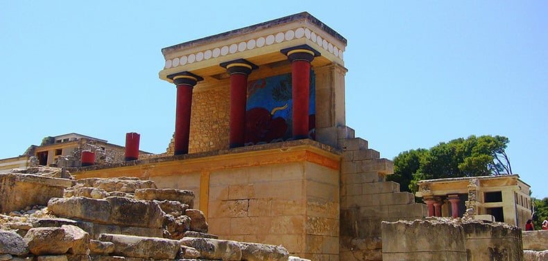 The Minoan palace in Knossos, one of the top places to visit in Crete.