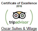 TripAdvisor Certificate of Excellence 2016 for Oscar Suites & Village Hotel in Agia Marina, Chania