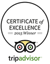 TripAdvisor Certificate of Excellence 2015 for Oscar Suites & Village Hotel in Agia Marina, Chania