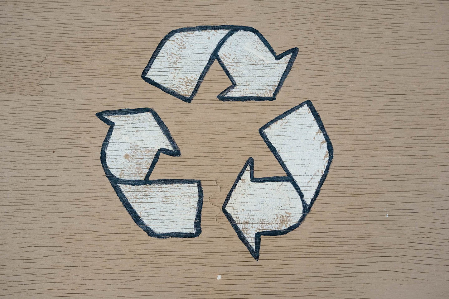 Recycling symbol in Oscar Suites & Village, an eco friendly hotel in Platanias, Crete.